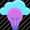 cloud, creative, creative cloud, creativity, inspiration, light bulb