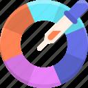 color, color picker, color wheel, palette, wheel icon