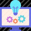 creating, idea, ideas, lightbulb icon
