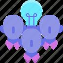creative, designers, freelancers, team, teammate icon
