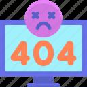 404, bug, error, error 404, glitch icon