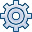 desktop options, gear box, gears, industry, settings, system, tools icon icon