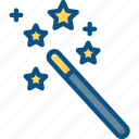 automatic, magic, magician, stick, wand icon icon