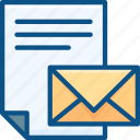 campaigns, email, letter, mail, marketing, paper, send icon icon