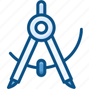 compass, construction tools, designing tools, drawing, geometrical settings icon icon