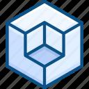 3d, box, cube, design, development, digital, modeling icon icon