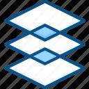 creative, design, layer, layers, stack icon icon