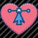 anchor, heart, paths, points, vector, vectorize icon icon