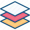 data, layer, layers, stack, tool icon icon