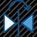 design tool, flip, flip horizontal, flip tool, horizontal icon icon