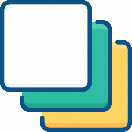 cascade, clone, copy, group, layers icon icon