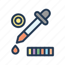 coloring, designing, tool icon