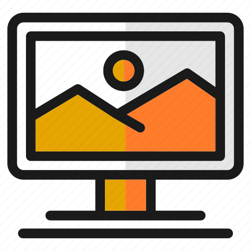 computer, designs, graphic, picture, screen, tools, view icon