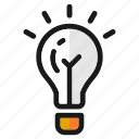 bulb, craetive, designs, idea, lamp, think, tools icon