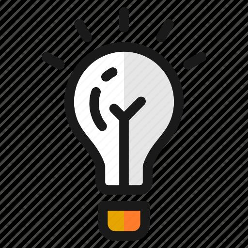 bulb, craetive, designs, idea, lamp, think, tools icon