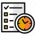 date, designs, list, schedule, target, time, tools icon
