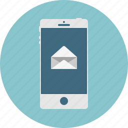 email, mail, mobile, new, open, smart phone icon