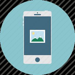 image, mobile, phone, smart phone icon