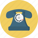 connection, old, phone, retro, telephone icon