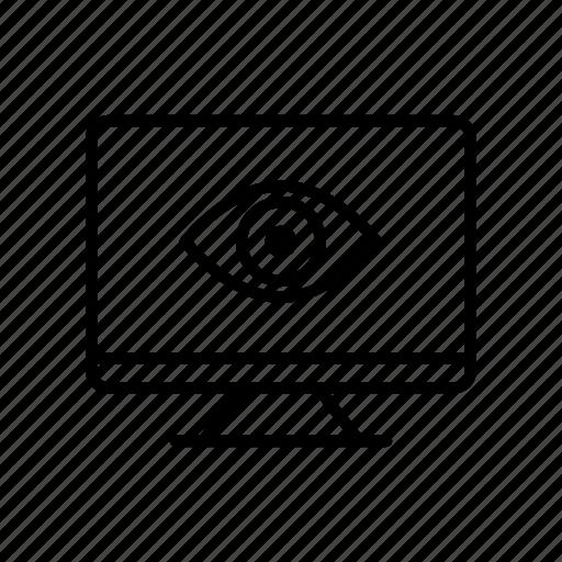computer, desktop, device, eye, imac, screen, view icon