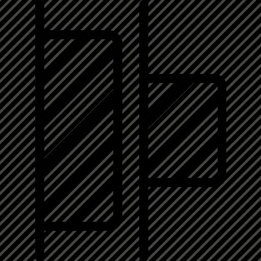 desktop, distribute, left, publishing, tool icon