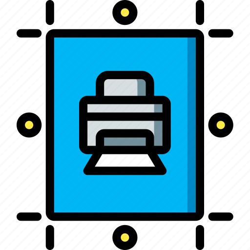desktop, drawing tool, marks, publishing, registration icon