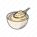 cake, custard, dessert, food, pie, snack