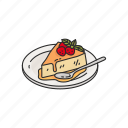 strawberry pie, strawberry cake, pie, cake, dessert, food icon