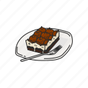 cake, chocolate cake, dessert, food, meal, sweets icon