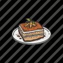 dessert, food, italian dessert, meal, snack, tiramisu
