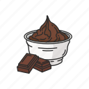 chocolate, cup, dark chocolate, dessert, food, sweets