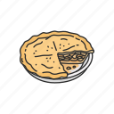 cake, dessert, food, meal, pie, snack icon