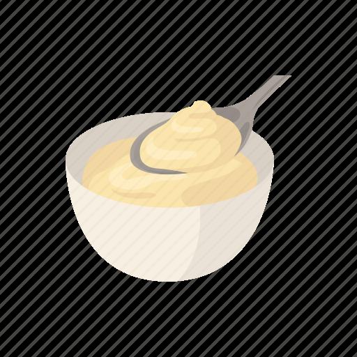 Bake, cream, custard, dessert, food, milk and egg, snack icon - Download on Iconfinder