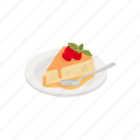 dessert, food, pie, strawberry, strawberry pie icon