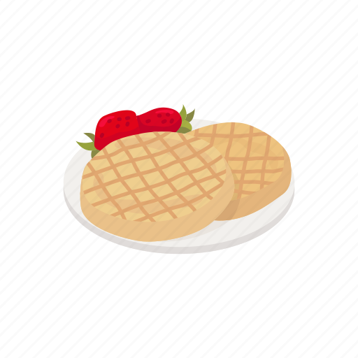 Dessert, dough, food, meal, strawberry, waffles icon - Download on Iconfinder