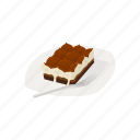 cake, chocolate cake, dessert, food, italian dessert, meal icon