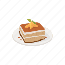 dessert, food, italian dessert, slice, snacks, sweets, tiramisu icon
