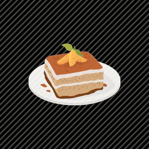 Dessert, food, italian dessert, slice, snacks, sweets, tiramisu icon - Download on Iconfinder