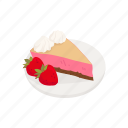 cake, dessert, pie, snack, strawberry, strawberry pie icon
