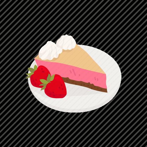 Cake, dessert, pie, snack, strawberry, strawberry pie icon - Download on Iconfinder