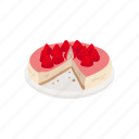 cake, dessert, food, pie, strawberry, strawberry cake icon