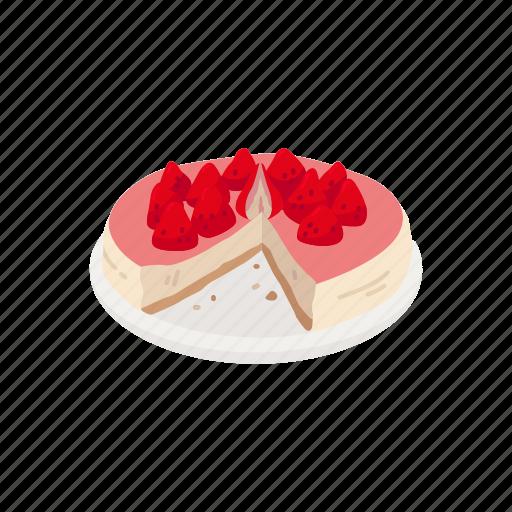 Cake, dessert, food, pie, strawberry, strawberry cake icon - Download on Iconfinder