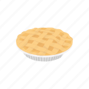 apple pie, dessert, dough, food, pie, pumpkin, snack icon