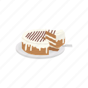 cake, caramel cake, dessert, food, pie icon
