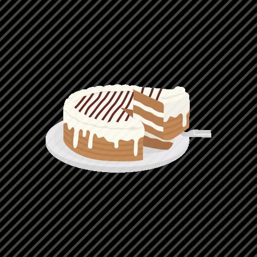 Cake, caramel cake, dessert, food, pie icon - Download on Iconfinder