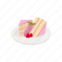 cake, dessert, food, strawberry, strawberry cake, sweets icon