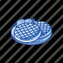 dessert, food, snack, strawberry, strawberry waffle, waffle icon