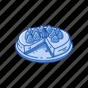 cake, dessert, food, pie, strawberry, strawberry cake