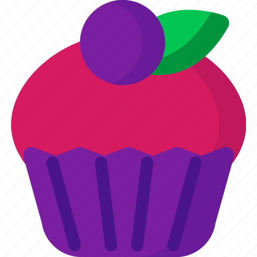 bakery, cake, cup, dessert, fruit, sweet icon