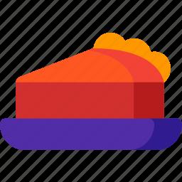 apple, cake, dessert, food, fruit, pie, slice icon